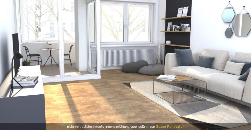 Homestaging - Wohnzimmer Design nachher