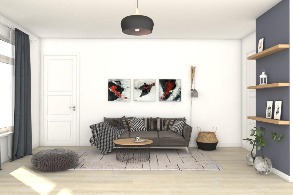 Virtuelles Homestaging - Wohnzimmer Design
