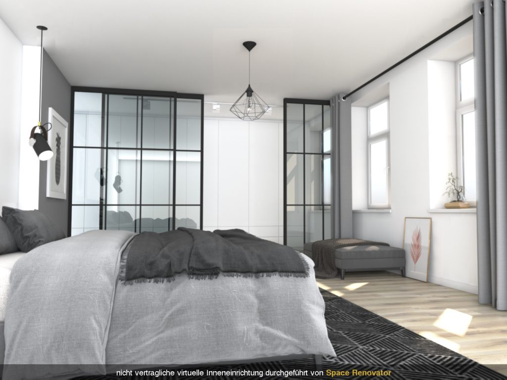 Virtuelles Homestaging Schlafzimmer Design nachher