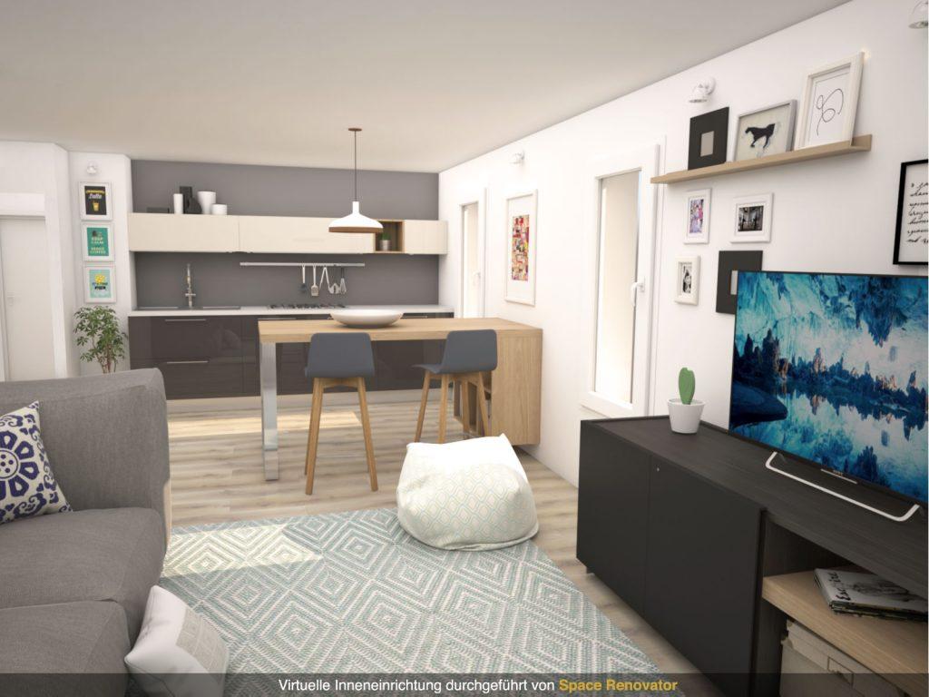 Virtuelles Homestaging Wohnzimmer Design nachher